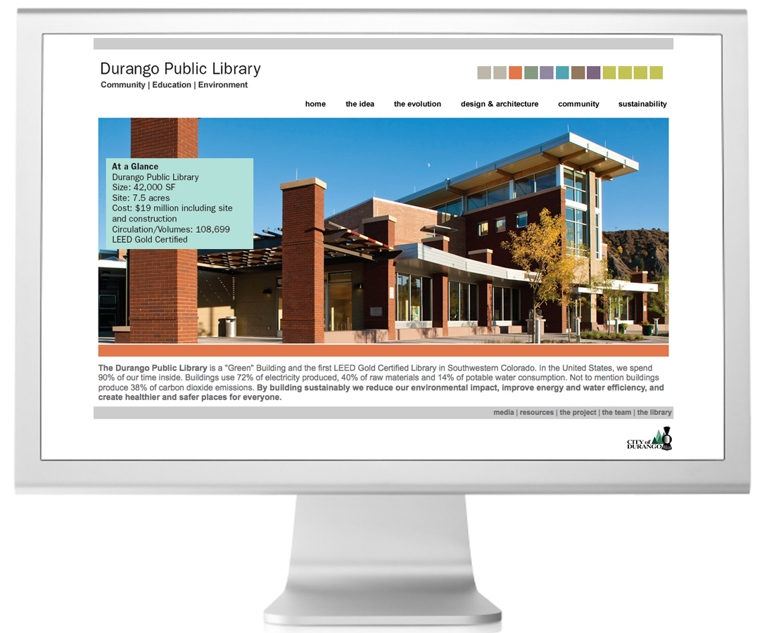 Durango Public Library Sustainability Website