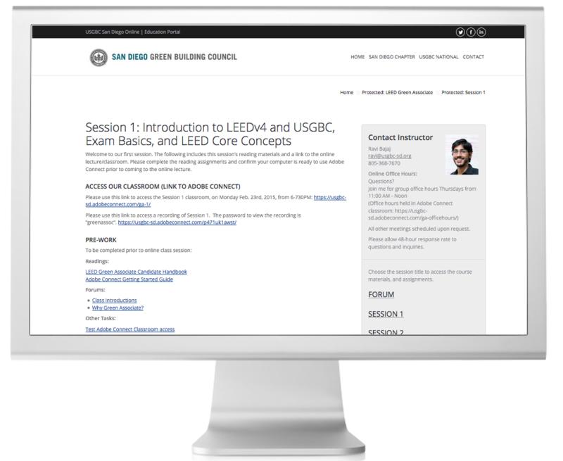 USGBC San Diego Education Portal Interior